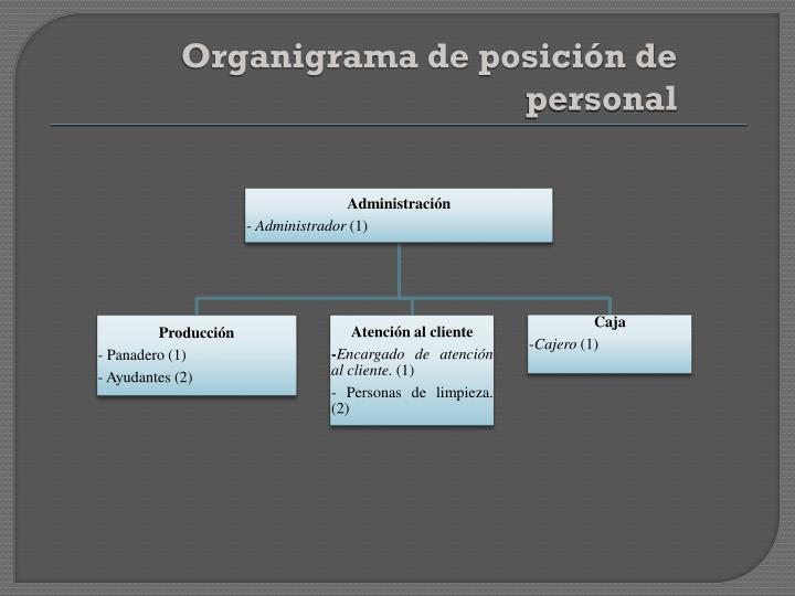 Organigrama de posición de personal