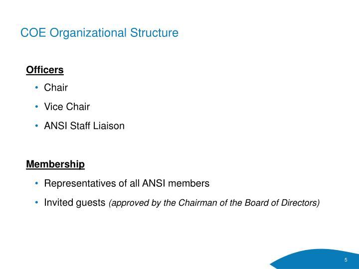 COE Organizational Structure