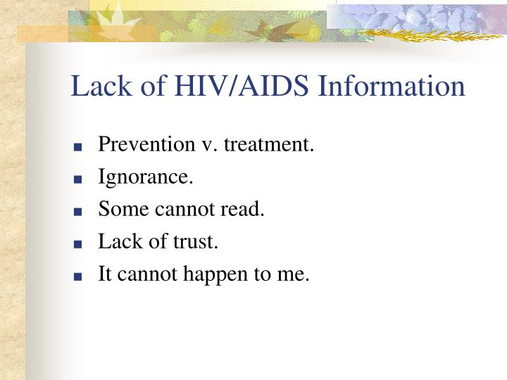 Lack of HIV/AIDS Information