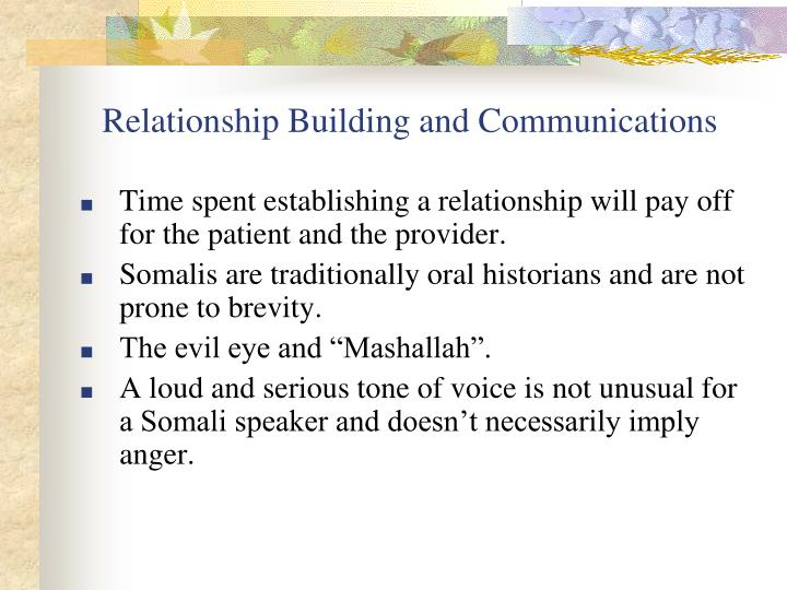 Relationship Building and Communications