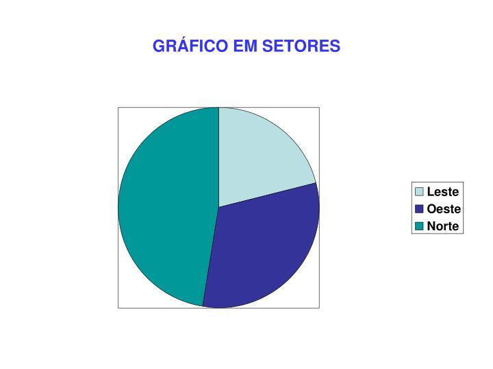 GRÁFICO EM SETORES
