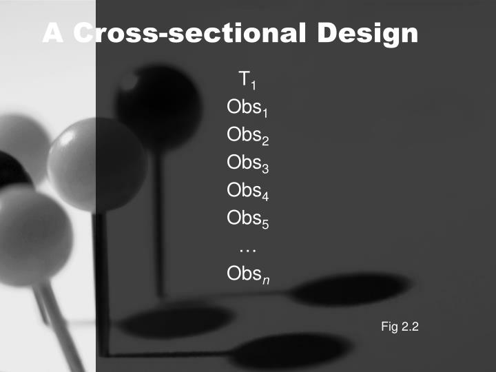 A Cross-sectional Design