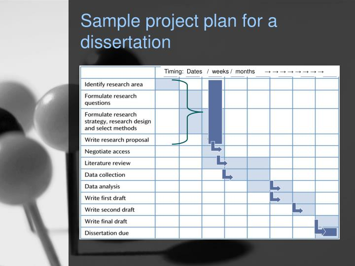 Sample project plan for a dissertation