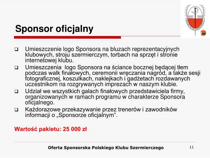 Sponsor oficjalny