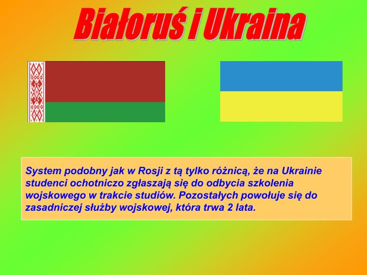 Białoruś i Ukraina