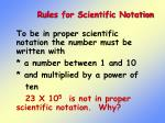 rules for scientific notation