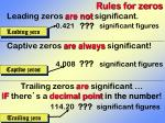 rules for zeros