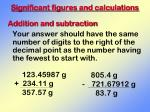 significant figures and calculations2