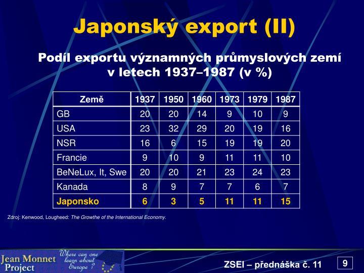 Japonský export (II)