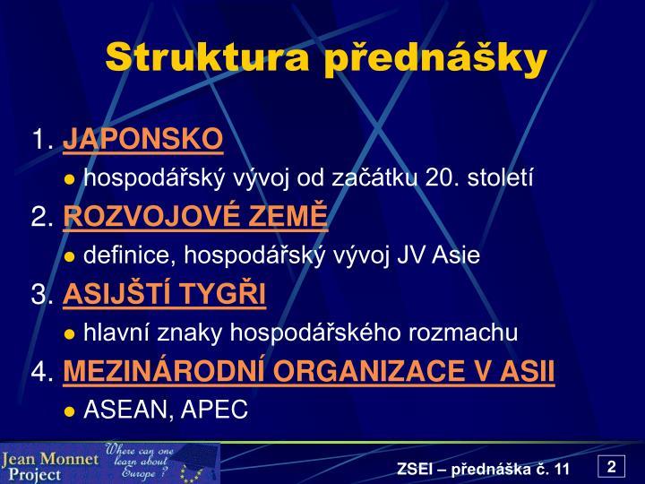 Struktura přednášky