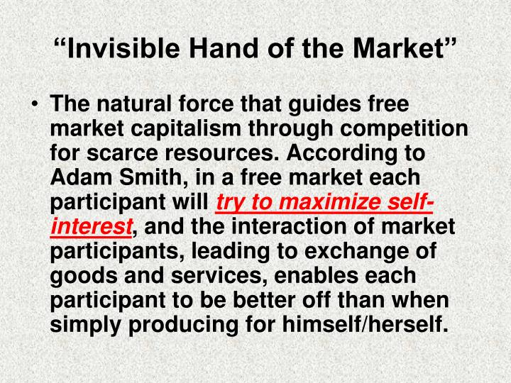 """Invisible Hand of the Market"""