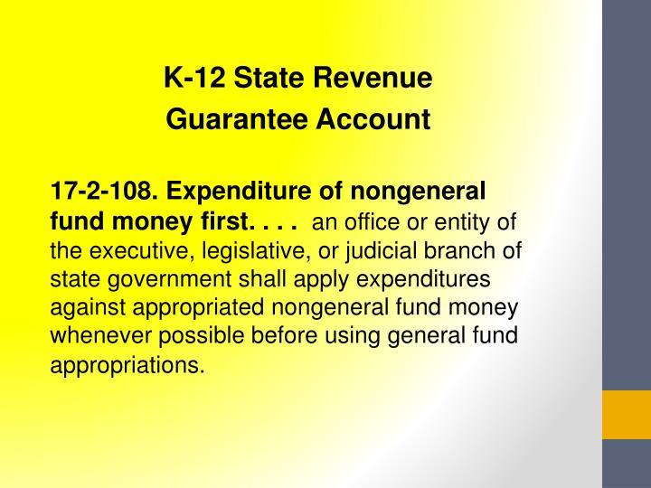 K-12 State Revenue