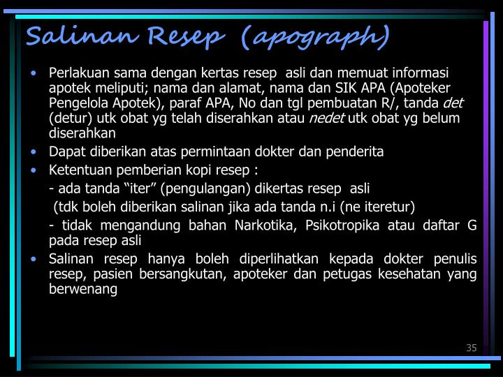 Salinan Resep  (