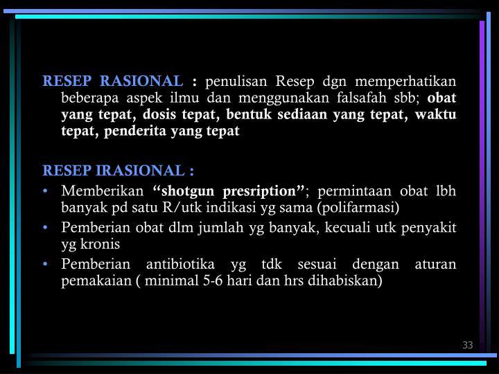 RESEP RASIONAL