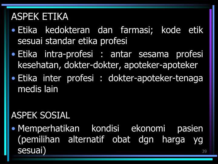 ASPEK ETIKA