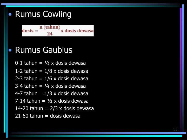 Rumus Cowling
