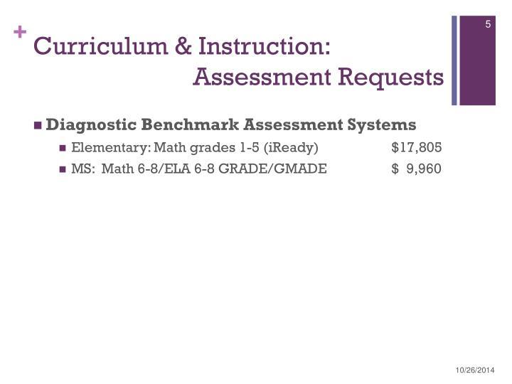 Curriculum & Instruction: