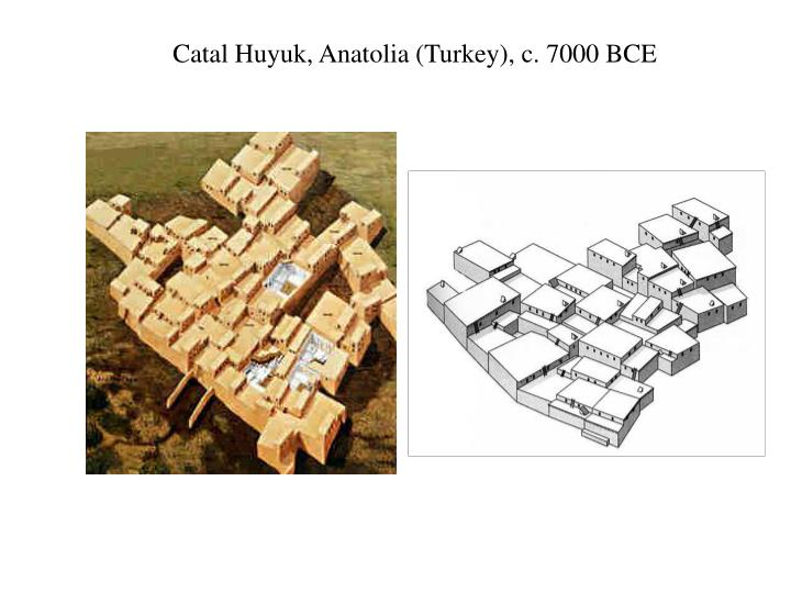 Catal Huyuk, Anatolia (Turkey), c. 7000 BCE