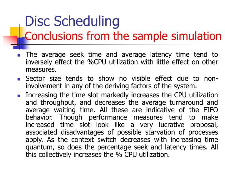 Disc Scheduling