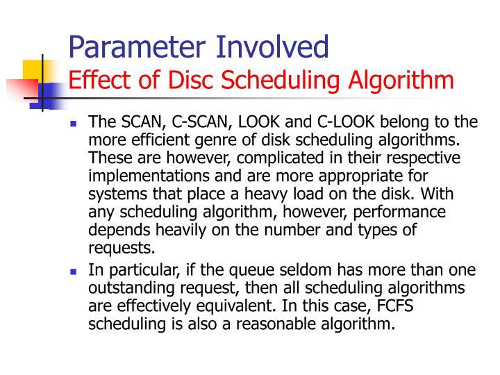 Parameter Involved
