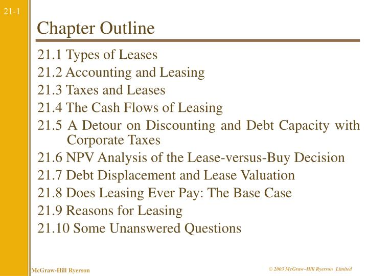 21.1 Types of Leases