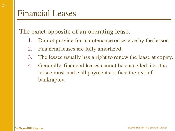 Financial Leases