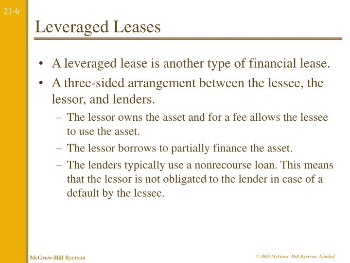 Leveraged Leases