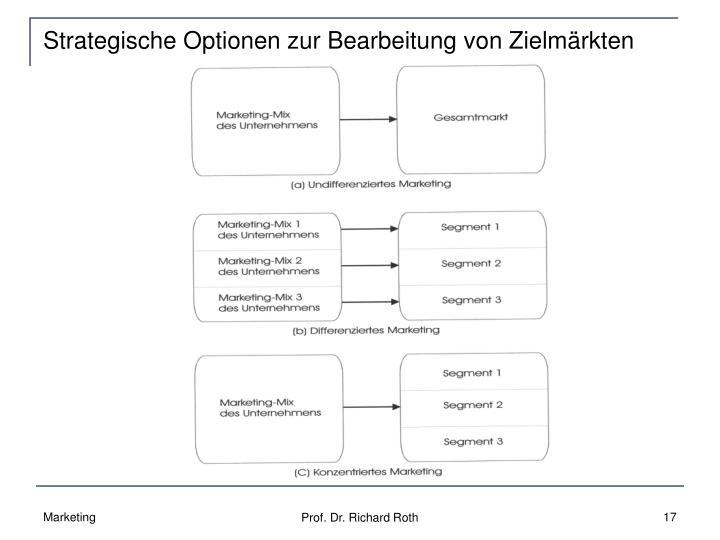 Strategische Optionen zur Bearbeitung von Zielmärkten