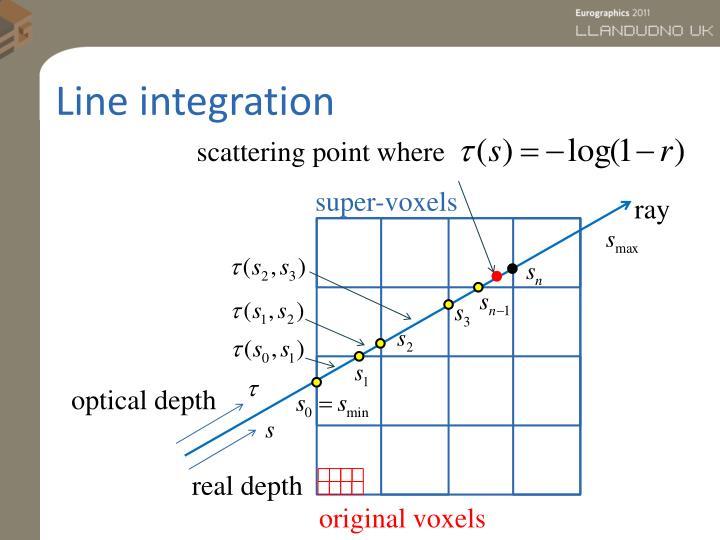Line integration