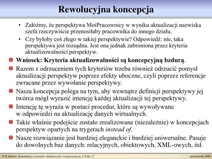 Rewolucyjna koncepcja