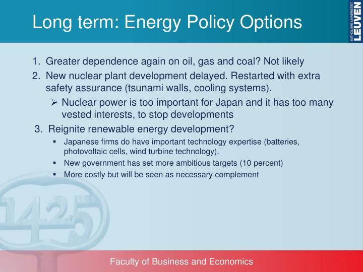 Long term: Energy Policy Options