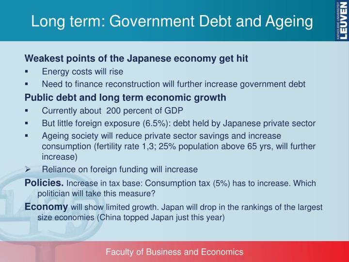 Long term: Government Debt and Ageing