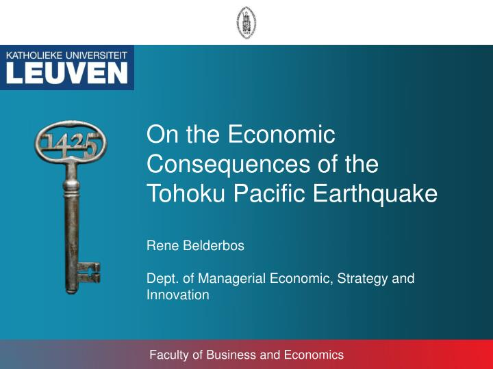 On the Economic Consequences of the Tohoku Pacific Earthquake