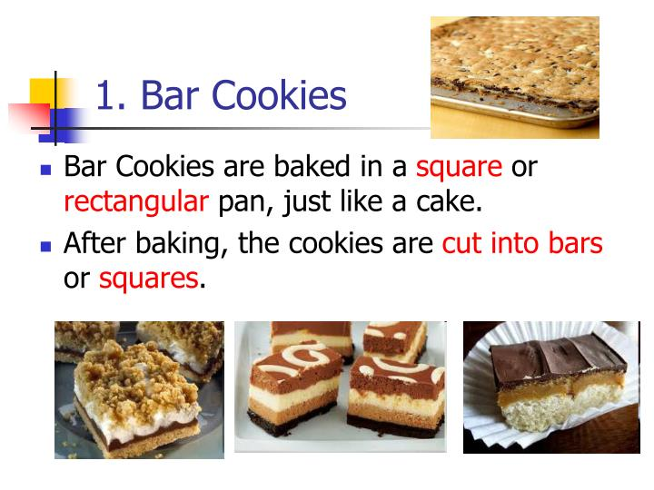 1. Bar Cookies