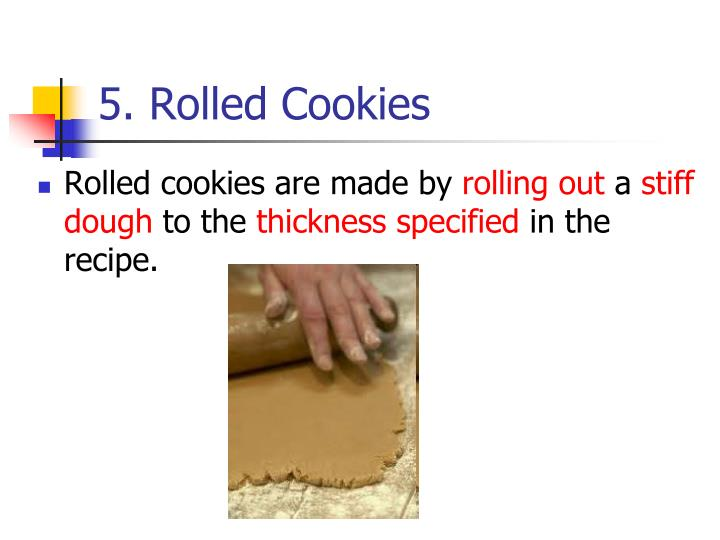 5. Rolled Cookies