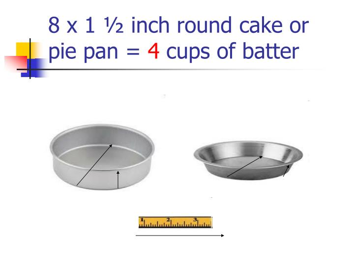 8 x 1 ½ inch round cake or pie pan =