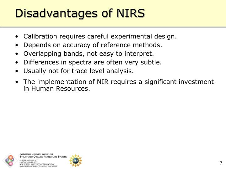 Disadvantages of NIRS