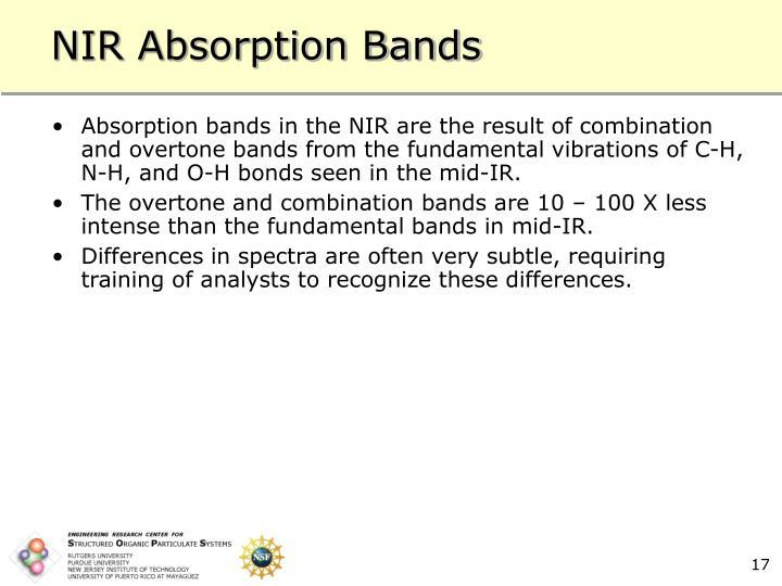NIR Absorption Bands