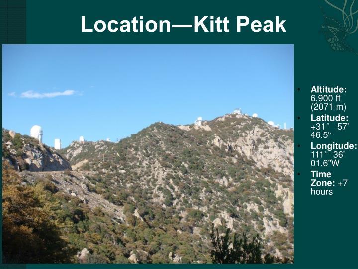 Location―Kitt Peak