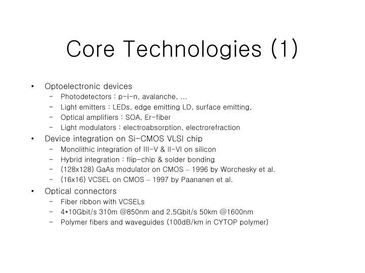 Core Technologies (1)