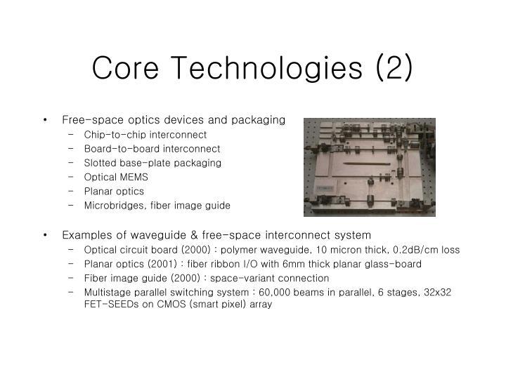 Core Technologies (2)
