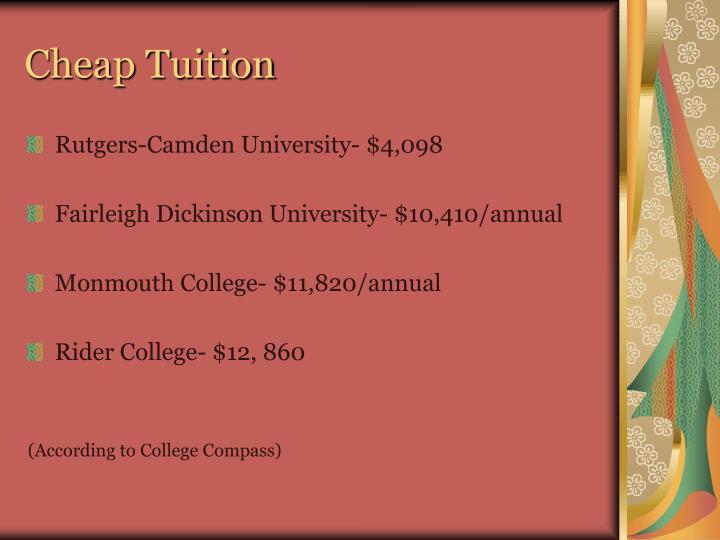 Cheap Tuition