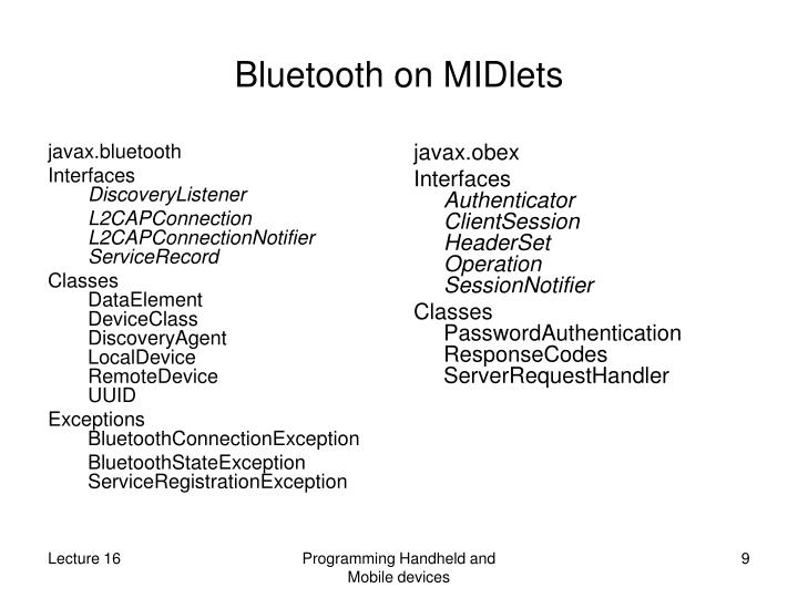 javax.bluetooth