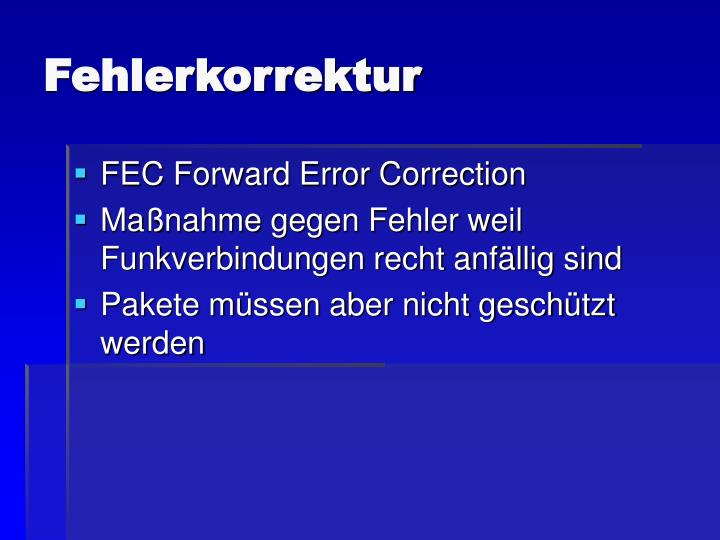 Fehlerkorrektur
