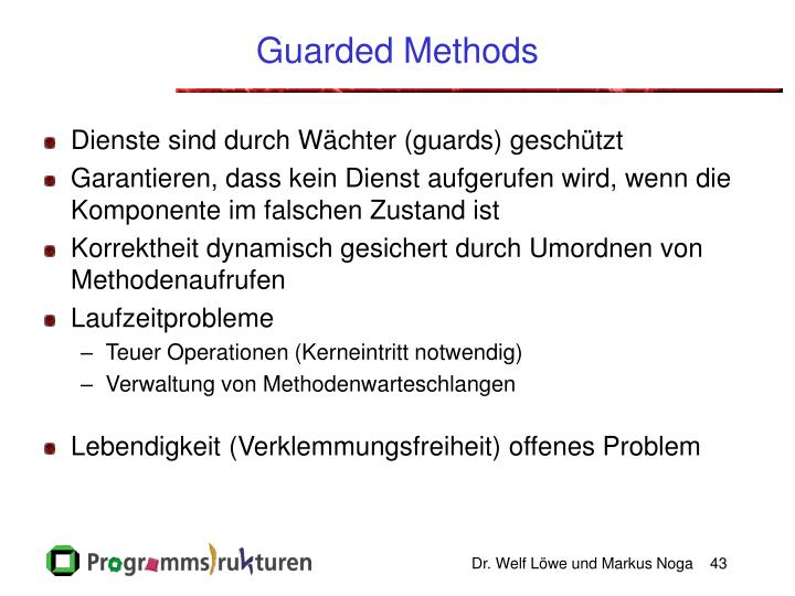 Guarded Methods