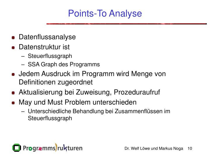Points-To Analyse