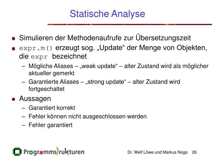 Statische Analyse