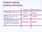collision testing existing techniques