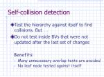 self collision detection