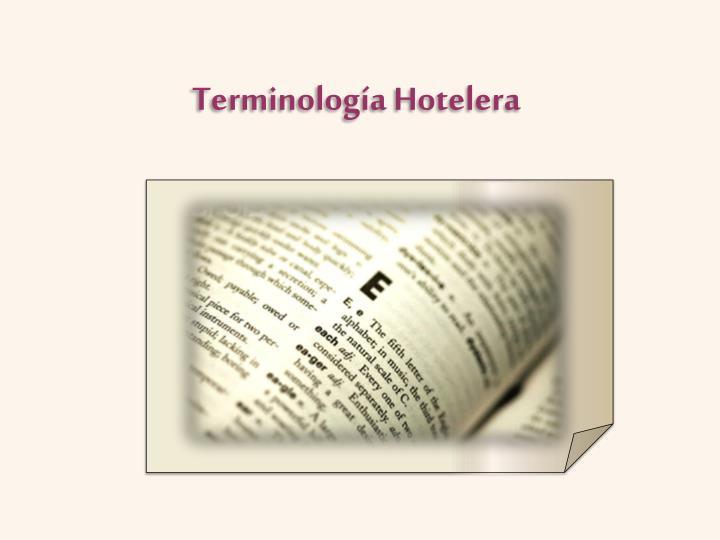 Terminología Hotelera